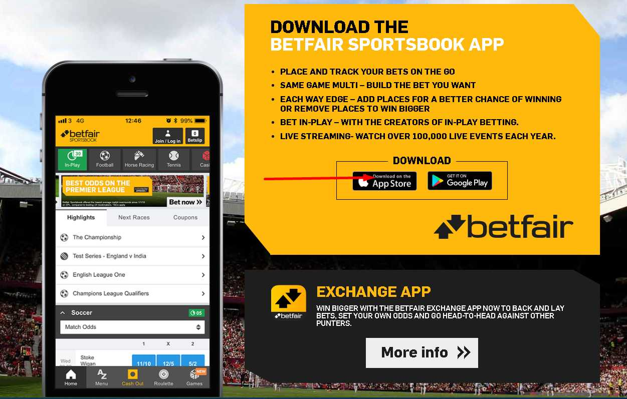 Download and Install Betfair app for iOS